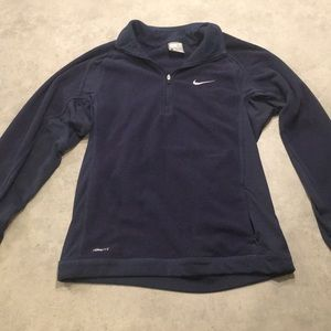 Nike pullover zip up fleece